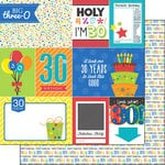 Scrapbook Customs - Happy Birthday Collection - 12 x 12 Double Sided Paper - 30th Birthday