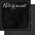 Scrapbook Customs - Retirement Collection - 12 x 12 Double Sided Paper - Happy Retirement