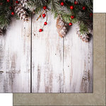 Scrapbook Customs - 12 x 12 Double Sided Paper - Rustic Christmas