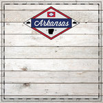 Scrapbook Customs - State Sightseeing Collection - 12 x 12 Paper - Wood - Arkansas