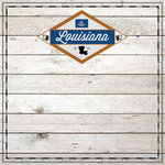 Scrapbook Customs - State Sightseeing Collection - 12 x 12 Paper - Wood - Louisiana
