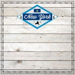 Scrapbook Customs - State Sightseeing Collection - 12 x 12 Paper - Wood - New York