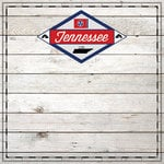 Scrapbook Customs - State Sightseeing Collection - 12 x 12 Paper - Wood - Tennessee
