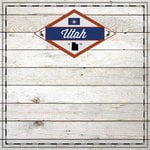 Scrapbook Customs - State Sightseeing Collection - 12 x 12 Paper - Wood - Utah