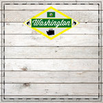 Scrapbook Customs - State Sightseeing Collection - 12 x 12 Paper - Wood - Washington