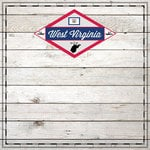Scrapbook Customs - State Sightseeing Collection - 12 x 12 Paper - Wood - West Virginia