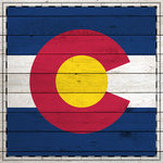 Scrapbook Customs - State Sightseeing Collection - 12 x 12 Paper - Wood Flag - Colorado