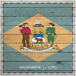 Scrapbook Customs - State Sightseeing Collection - 12 x 12 Paper - Wood Flag - Delaware
