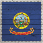 Scrapbook Customs - State Sightseeing Collection - 12 x 12 Paper - Wood Flag - Idaho