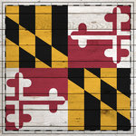 Scrapbook Customs - State Sightseeing Collection - 12 x 12 Paper - Wood Flag - Maryland