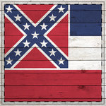 Scrapbook Customs - State Sightseeing Collection - 12 x 12 Paper - Wood Flag - Mississippi