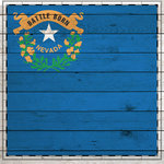 Scrapbook Customs - State Sightseeing Collection - 12 x 12 Paper - Wood Flag - Nevada
