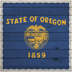 Scrapbook Customs - State Sightseeing Collection - 12 x 12 Paper - Wood Flag - Oregon