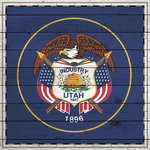 Scrapbook Customs - State Sightseeing Collection - 12 x 12 Paper - Wood Flag - Utah
