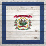 Scrapbook Customs - State Sightseeing Collection - 12 x 12 Paper - Wood Flag - West Virginia