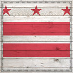 Scrapbook Customs - State Sightseeing Collection - 12 x 12 Paper - Wood Flag - Washington DC