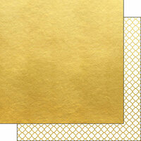 Scrapbook Customs - 12 x 12 Double Sided Paper - Quatrefoil