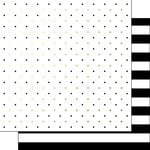 Scrapbook Customs - 12 x 12 Double Sided Paper - Black and White Stripes