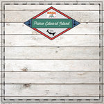Scrapbook Customs - Canadian Provinces Sightseeing Collection - 12 x 12 Paper - Wood - Prince Edward Island