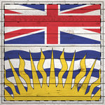 Scrapbook Customs - Canadian Provinces Sightseeing Collection - 12 x 12 Paper - Wood Flag - British Columbia