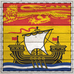 Scrapbook Customs - Canadian Provinces Sightseeing Collection - 12 x 12 Paper - Wood Flag - New Brunswick