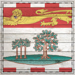 Scrapbook Customs - Canadian Provinces Sightseeing Collection - 12 x 12 Paper - Wood Flag - Prince Edward Island
