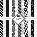 Scrapbook Customs - Black and White Shapes Collection - 12 x 12 Paper Pack