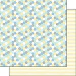 Scrapbook Customs - Baby Boy Collection - 12 x 12 Double Sided Paper - Hexagon