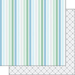 Scrapbook Customs - Baby Boy Collection - 12 x 12 Double Sided Paper - Stripes