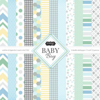 Scrapbook Customs - Baby Boy Collection - 12 x 12 Paper Pack