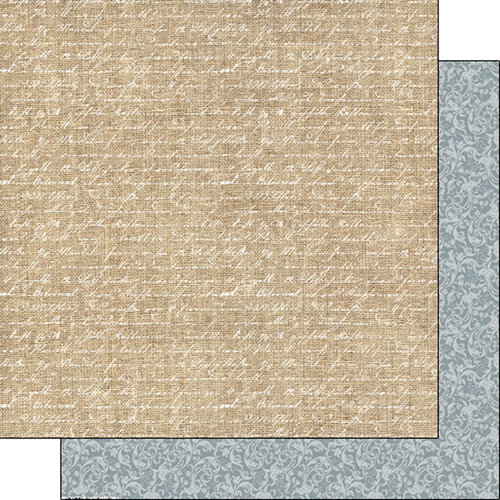 Scrapbook Customs - Burlap and Lace Collection - 12 x 12 Double Sided Paper - Words