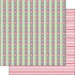 Scrapbook Customs - Tribal Collection - 12 x 12 Double Sided Paper - Stripes