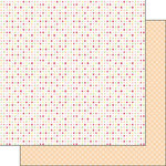 Scrapbook Customs - Valentine Collection - 12 x 12 Double Sided Paper - Dots