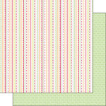 Scrapbook Customs - Valentine Collection - 12 x 12 Double Sided Paper - Stripe