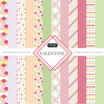 Scrapbook Customs - Valentine Collection - 12 x 12 Paper Pack