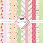 Scrapbook Customs - Valentine Collection - 12 x 12 Paper Pack