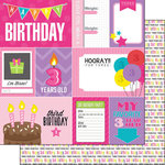 Scrapbook Customs - Birthday Girl Collection - 12 x 12 Double Sided Paper - 3rd - Journal