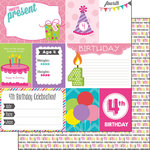 Scrapbook Customs - Birthday Girl Collection - 12 x 12 Double Sided Paper - 4th - Journal