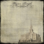 Scrapbook Customs - 12 x 12 Paper - Payson Temple - Vintage