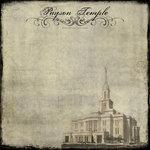 Scrapbook Customs - 12 x 12 Paper - Payson Temple - Vintage