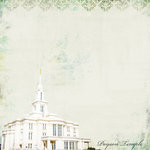 Scrapbook Customs - 12 x 12 Paper - Payson Temple - Elegance