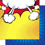 Scrapbook Customs - 12 x 12 Double Sided Paper - Comic Burst Boy
