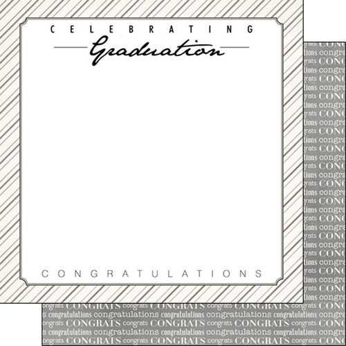 Scrapbook Customs - 12 x 12 Double Sided Paper - Celebrating Graduation