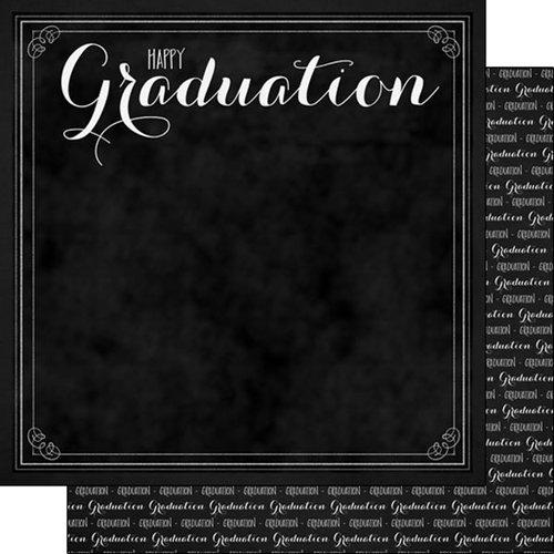 Scrapbook Customs - 12 x 12 Double Sided Paper - Happy Graduation