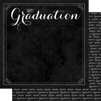 Scrapbook Customs - 12 x 12 Double Sided Paper - Happy Graduation