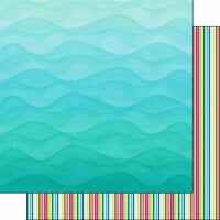 Scrapbook Customs - 12 x 12 Double Sided Paper - Snorkeling Adventure