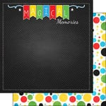 Scrapbook Customs - 12 x 12 Double Sided Paper - Magical Memories Dots