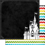 Scrapbook Customs - 12 x 12 Double Sided Paper - Magical Castle
