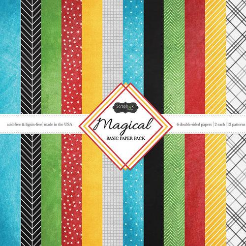 Scrapbook Customs - 12 x 12 Paper Pack - Magical Basic