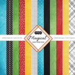 Scrapbook Customs - 12 x 12 Paper Pack - Magical Basic